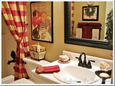 french country red check dining room - Google Search