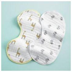 Baby Bibs & Burp Cloths: aden + anais Yellow Burp Bib Cloths, S/2 Mu Aden Zoo Burpy Bib