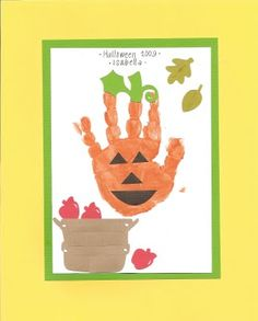 Parallel Parking: Halloween Hand/Footprint Art Autumn Activities For Kids, Halloween Activities, Halloween Kids, Halloween Themes, Halloween Crafts, Holiday Crafts, Daycare Crafts, Baby Crafts, Preschool Crafts