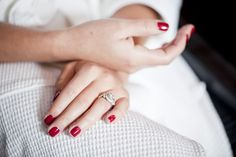 Nothing makes feel prettier than red manicured finger nails.