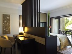 Garden Suite room with working table | Pan Pacific Nirwana Bali Resort | Tanah Lot - Bali, Indonesia