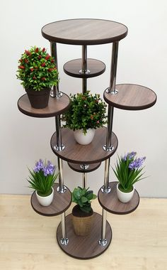Design Ideas For Your Garden Tall Plant Stands, Modern Plant Stand, Wooden Plant Stands, Stand Tall, House Plants Decor, Plant Decor, Tall Plants, Indoor Plants, Indoor Gardening