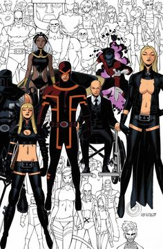 Chris Bachalo - Uncanny X-Men # 600click for best comics talk
