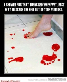 Lol i need this it turns red every time it gets wet. Perfect for guest bathrooms