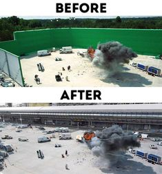 30 Behind the Scenes of Iconic Special Effects Shots - bemethis Popular Movies, Good Movies, Jurassic World 2, Practical Effects, Computer Generated Imagery, Funny Texts Jokes, Home For Peculiar Children, Movie Shots, Film Studio
