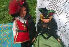 D' Artagnan Musketeer and Milady Folk Dolls French Three Musketeers by Alexandre Dumas Souvenir Couple Dolls Maguy Tag #sophieladydeparis
