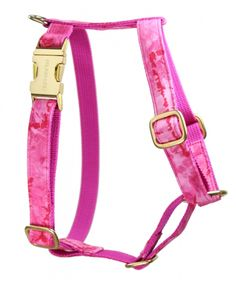 hund geschirr pink batik - dog harness gold pink tie dye - stylish dog supplies handmade in germany