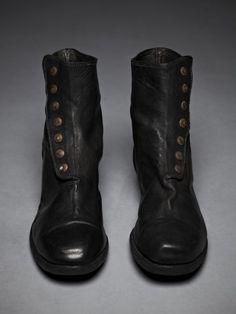 Guidi -- Full Grain Kangaroo Leather Button up Boot