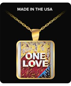 Mr Wonderful Bob Marley Candy - One Love Gold pendant chain - Made in USA