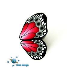 Red black butterfly wings by Marcia - Mars design, via Flickr