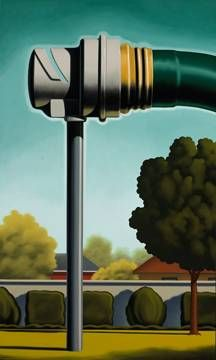 Baptism, 2008, 60 x 36 inches, oil on canvas© Kenton Nelson 2008