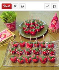 55 Ideas Cake Pops Strawberry Shortcake For 2019 Raspberry Smoothie, Apple Smoothies, Birthday Cake Girls, First Birthday Parties, 1st Birthdays, 2nd Birthday, Birthday Ideas, Strawberry Shortcake Party, Strawberry Cake Pops