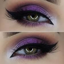 Image result for black white and purple eye makeup