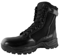 """Maelstrom® TAC FORCE 8"""" Tactical Police Duty Military Boots with Zipper"""
