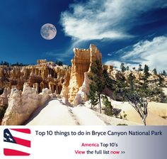Top 10 things to do in Bryce Canyon National Park