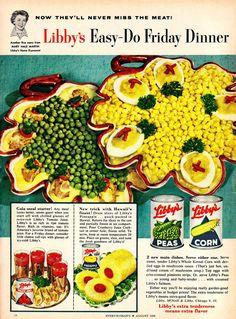 Libby's Easy-Do Friday Dinner 1956