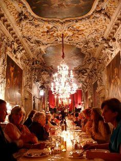 6.11.07: Day 3 & 4 in Venice | New York Social Diary.  Interior of Palazzo Albrizzi, my model for Francesca's palazzo.: