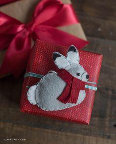 Felt Bunny Gift Topper or Tree Ornament Tutorial