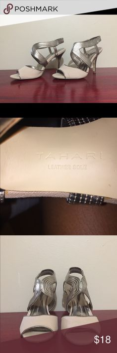 Tahari Shoes 👠 👠👠 Beautiful high heels, worn 2x in excellent condition!  Leather Sole!!! Tahari Shoes Heels