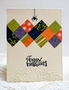 Sleepy in Seattle: Quilt Squares Halloween card