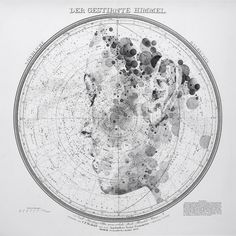 Map and Celestial Star Chart Portraits by Ed Fairburn Ed Fairburn, Star Chart, Colossal Art, Old Maps, Vintage Maps, Portraits, Art Lessons, Art Photography, Illustration Art
