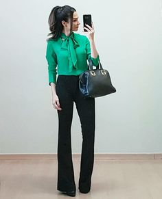 Na lida com Anita – Página: 2 – Anita Bem Criada Office Fashion, Work Fashion, Business Fashion, Fashion Pants, Fashion Outfits, Work Casual, Casual Chic, Casual Looks, Lawyer Outfit