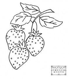 strawberry embroidery pattern