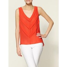 C.Luce Pleated Front Top