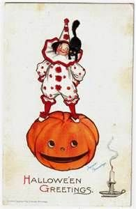 Image detail for -VINTAGE HALLOWEEN CLOWN POSTCARD - BRUNDAGE - Halloween