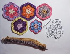 Just a lame african crochet hexagon