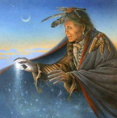 The Great Spirit is in all things, is in the air we breathe. The Great Spirit is our Father, but the Earth is our Mother. She nourishes us; that which we put into the ground, she returns to us. —Big Thunder, Algonquin (Thanks for sharing the artwork with us @Rick Briggs!)    Artwork by Charles Frizzell
