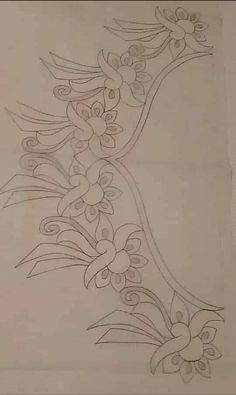 Hand Embroidery Design Patterns, Embroidery Flowers Pattern, Hand Embroidery Stitches, Embroidery Art, Machine Embroidery Designs, Heart Coloring Pages, Rangoli Border Designs, Jewelry Design Drawing, Patchwork Designs
