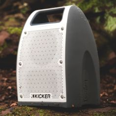 Wireless Bullfrog® Portable Bluetooth Waterproof Speaker in White/Gray by Kicker® - Associated Accessories Waterproof Bluetooth Speaker, Music System, Green Accents, Chevrolet, Blazer, Vehicle, Gadgets, Sun, Gray