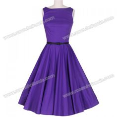 Vintage style & purple!  Not needing dresses right now though.  High waist & belted styles are flattering on me.