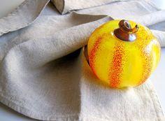 Pumpkin Halloween Glass Pumpkin Halloween by woolpleasure on Etsy