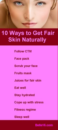 how to get your skin fair