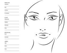 free printable face chart for makeup artists facechart makeup mua