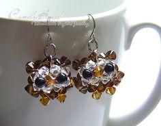 Swarovski earrings  Brown Owl Crystal Earrings E01202 by candybead, $14.50....STEVI