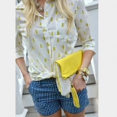 """Blue Shorts With White Polka Dots 3"""" inseam Merona Other"""