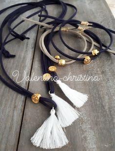 Μαρτυρικά βάπτισης λαιμού με σταυρό για αγόρι by valentina-christina 2105157506 Tassel Necklace, Necklaces, Bracelets, Baptism Ideas, Daughter Of God, Tassels, Leather, Handmade, Jewelry