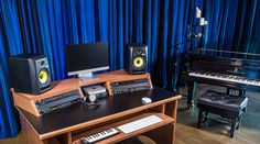 StudioRacks The Origin Recording Studio Desk is designed to provide a compact, flexible and stylish workstation that meets the needs of today's music and media producers.