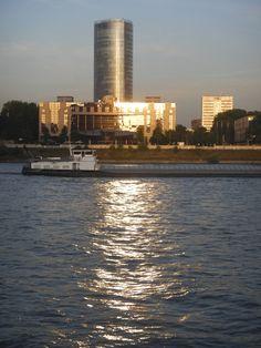 Abendstimmung am Rhein/Köln von Manfred.B