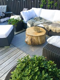 My outdoor patio in Stockholm!