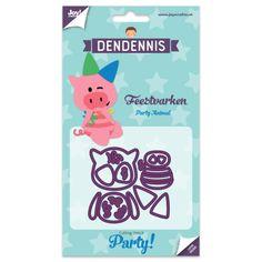 Dendennis Party Die Cut Stencil - Party Animal