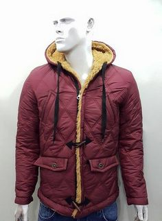 Hobby giyim | İyi Giyinmek ve İyi Yaşamak. rayyen kapşonlu bordo erkek mont            Renkleri hobbygiyim.com da