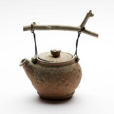 Cornelia Trösch. wood fired #teapot with branch handle  #design