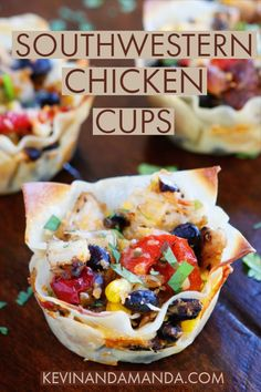 New recipe on Kevin & Amanda Recipes today! :) Make these fun Southwestern Chicken Cups in a muffin tin for dinner tonight! Click the title below to get the recipe: Southwestern Chicken Cups Enjoy! Mexican Food Recipes, New Recipes, Cooking Recipes, Favorite Recipes, Recipies, Fast Recipes, Popular Recipes, Drink Recipes, Yummy Recipes