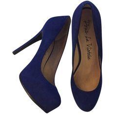 Pre-owned Pour La Victoire Suede Pump Blue Platforms ($141) ❤ liked on Polyvore featuring shoes, pumps, heels, blue, heels & pumps, pour la victoire shoes, pour la victoire pumps, blue high heel shoes and blue platform pumps