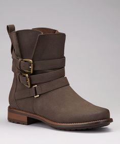 I want these!!!! Take a look at this Brown Buckle Ankle Boot by Forever on #zulily today!