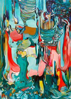 "Saatchi Online Artist DIANA ROIG; Painting, ""Most People See Vaginas. (SOLD)"" #art"